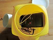 bat detector inside prepainted mustard