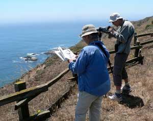 Photo: migration brings birders to Pt. Reyes Natl Seashore