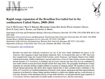 Screenshot: Rapid range expansion of the Brazilian free-tailed bat