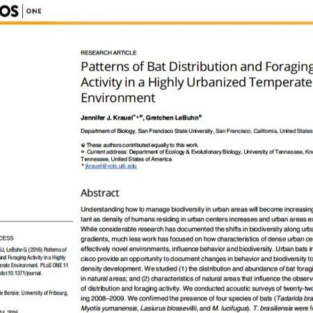 Screenshot: Patterns of Bat Distribution and Foraging Activity in San Francisco
