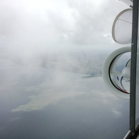 Photo: View out of airship window